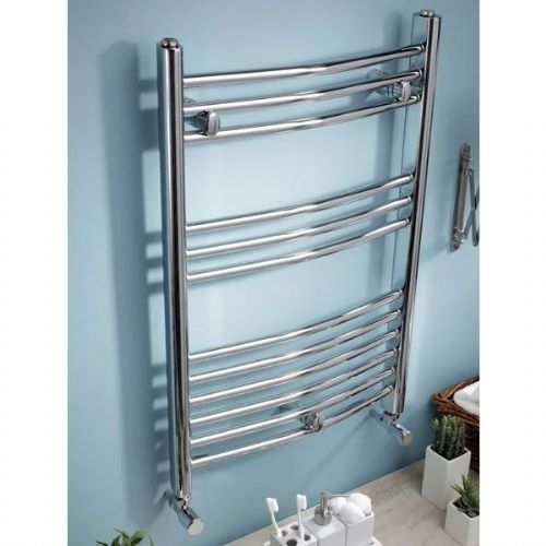 Kartell K-Rail Curved Towel Rail - 300mm x 800mm - Chrome